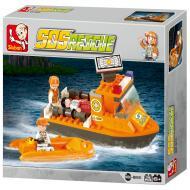 Sluban First Aid Boat M38-B0101 Better Lego Option